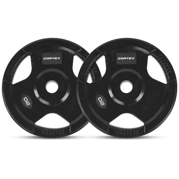 CORTEX 20kg Tri-Grip 50mm Olympic Plates (Pairs)