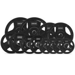 CORTEX 80kg Tri-Grip 50mm Olympic Plate Set
