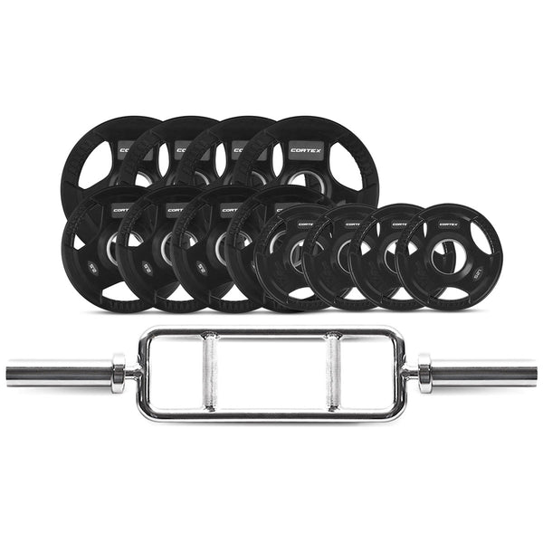 CORTEX 40kg Tri Bar 50mm Olympic Weight Set