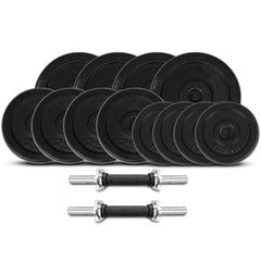 CORTEX 40kg Cast Iron Dumbbell Weight Set (Standard)