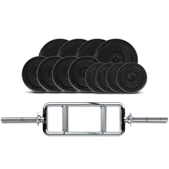 CORTEX 40kg Cast Iron Tri Bar Weight Set (Standard)