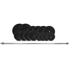 CORTEX 65kg Cast Iron Barbell Weight Set (Standard)