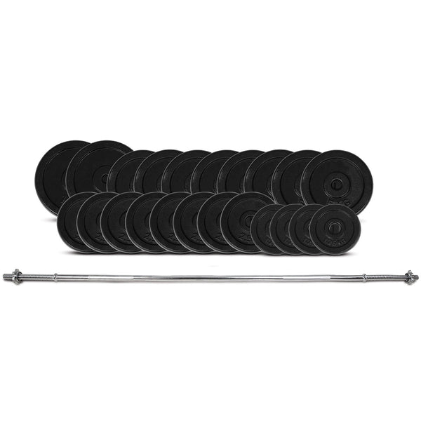 CORTEX 95kg Cast Iron Barbell Weight Set (Standard)