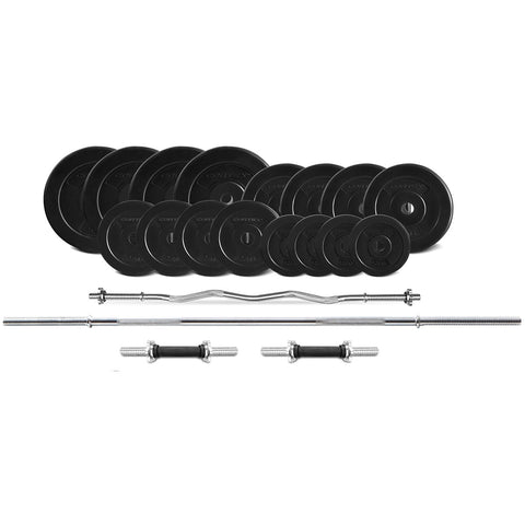 CORTEX 90kg EnduraShell Barbell Weight Set