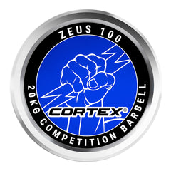 CORTEX ZEUS100 7ft 20kg Olympic Competition Barbell with Lockjaw Collars