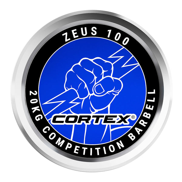 CORTEX ZEUS100 7ft 20kg Olympic Competition Barbell (Hard Chrome)