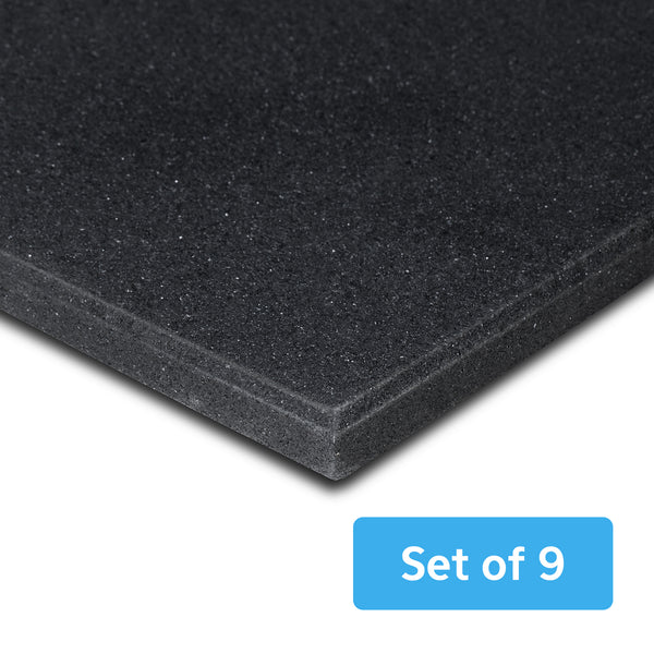 Rubber Gym Floor Mat 15mm Set of 9