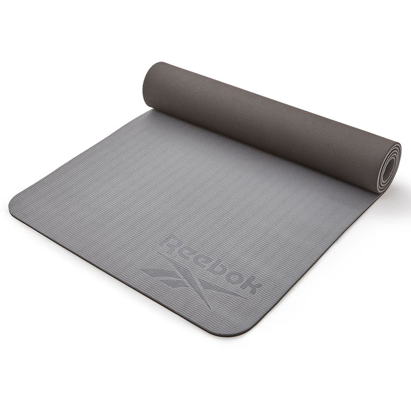 Reebok Double Sided Yoga Mat (6mm, Black/Grey)