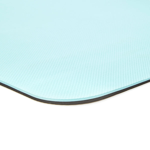 Double Sided Yoga Mat (6mm, Blue)