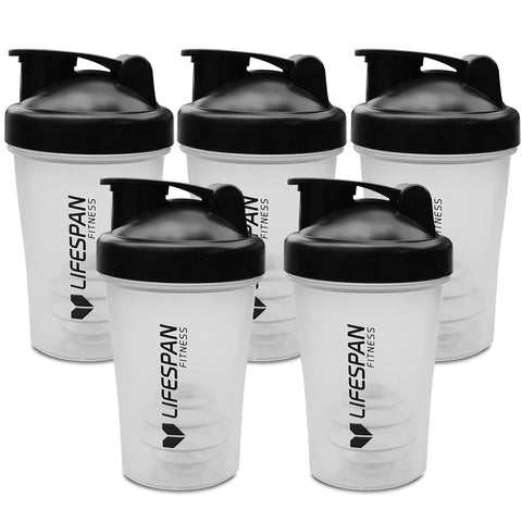 Lifespan Fitness Shaker Bottle 5 Pack