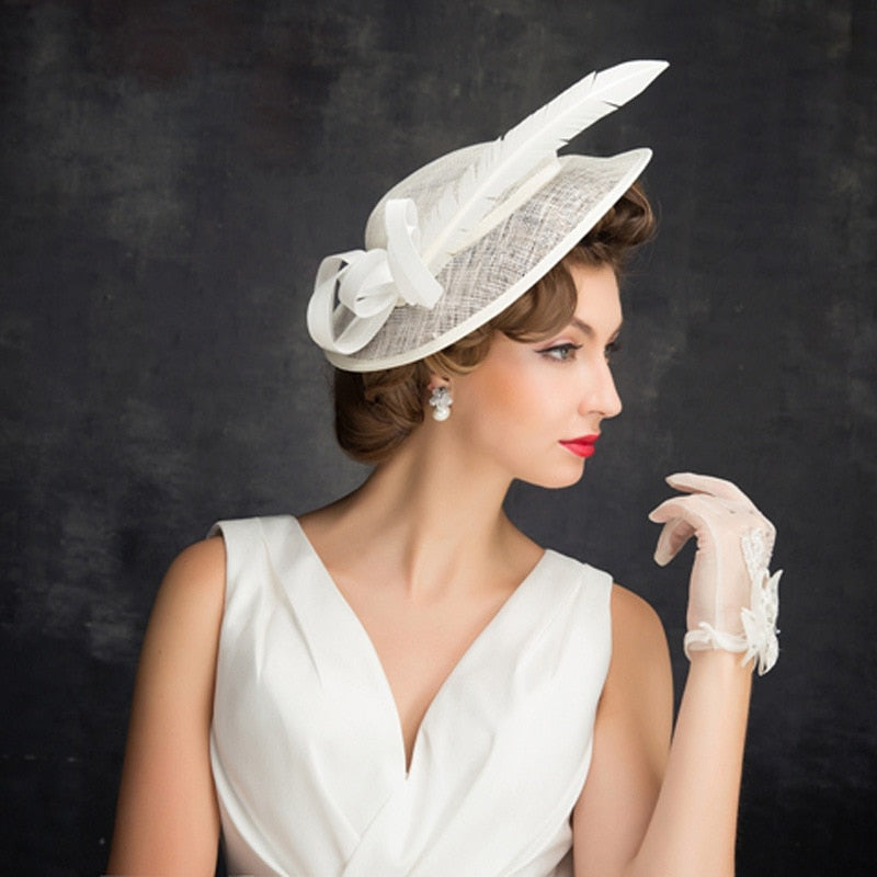 Single Feather – Women's Derby Hat - DerbyHats.com