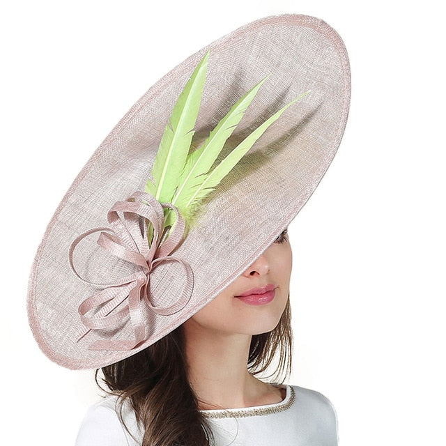 Classic Tri-Feather – Women's Derby Hat - DerbyHats.com