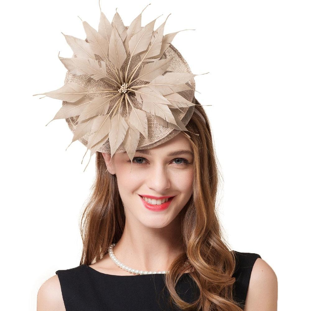 Feather Pinwheel – Women's Derby Hat - DerbyHats.com