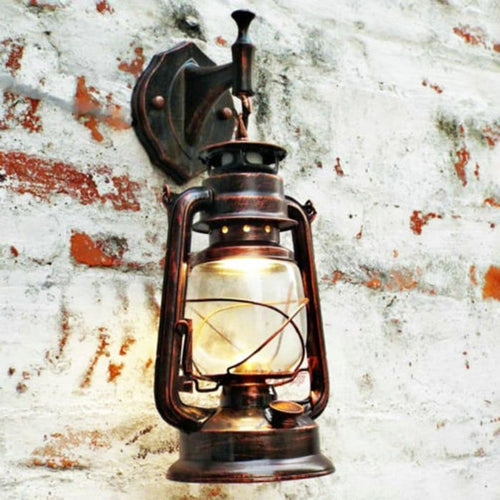 Vintage Lantern With Wall Mount