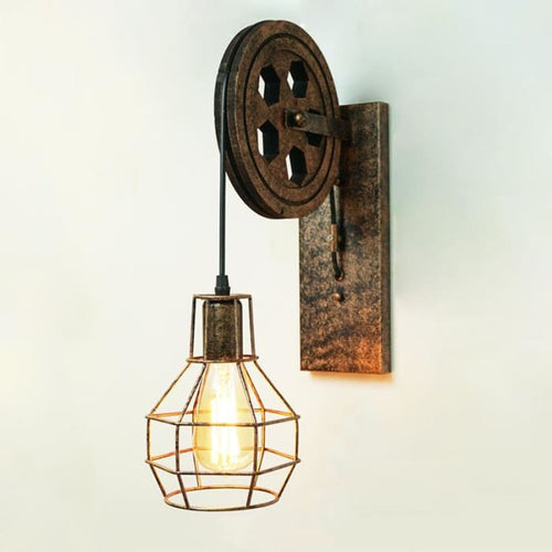Vintage Pulley Wall Lamp