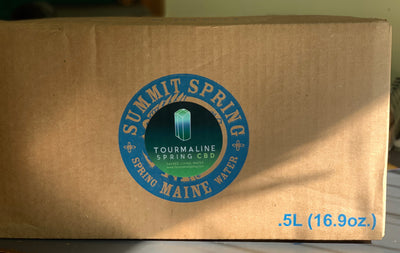 1 case of Tourmaline Spring Hemp water (24 Half Liter bottles)
