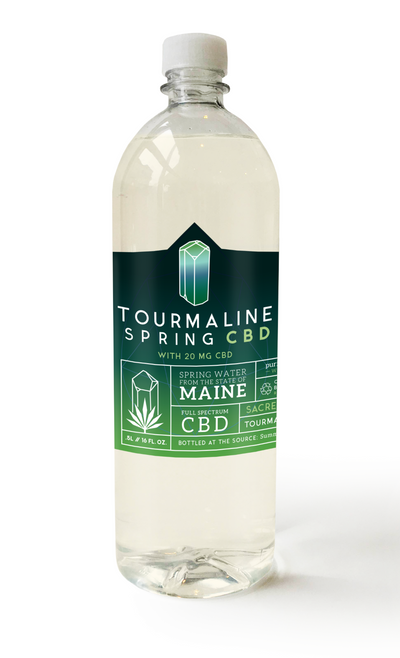 1 case of Tourmaline Spring C.B.D water (24 Half Liter bottles)