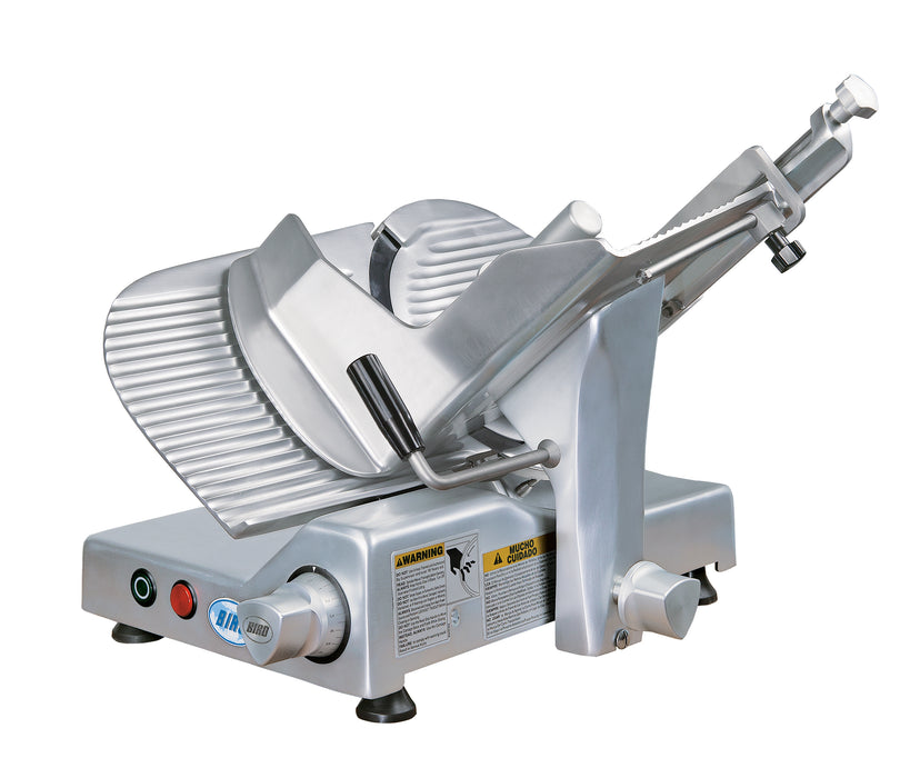 "Biro B300M 12"" Manual Gravity Feed Meat Slicer - 1/2 hp"