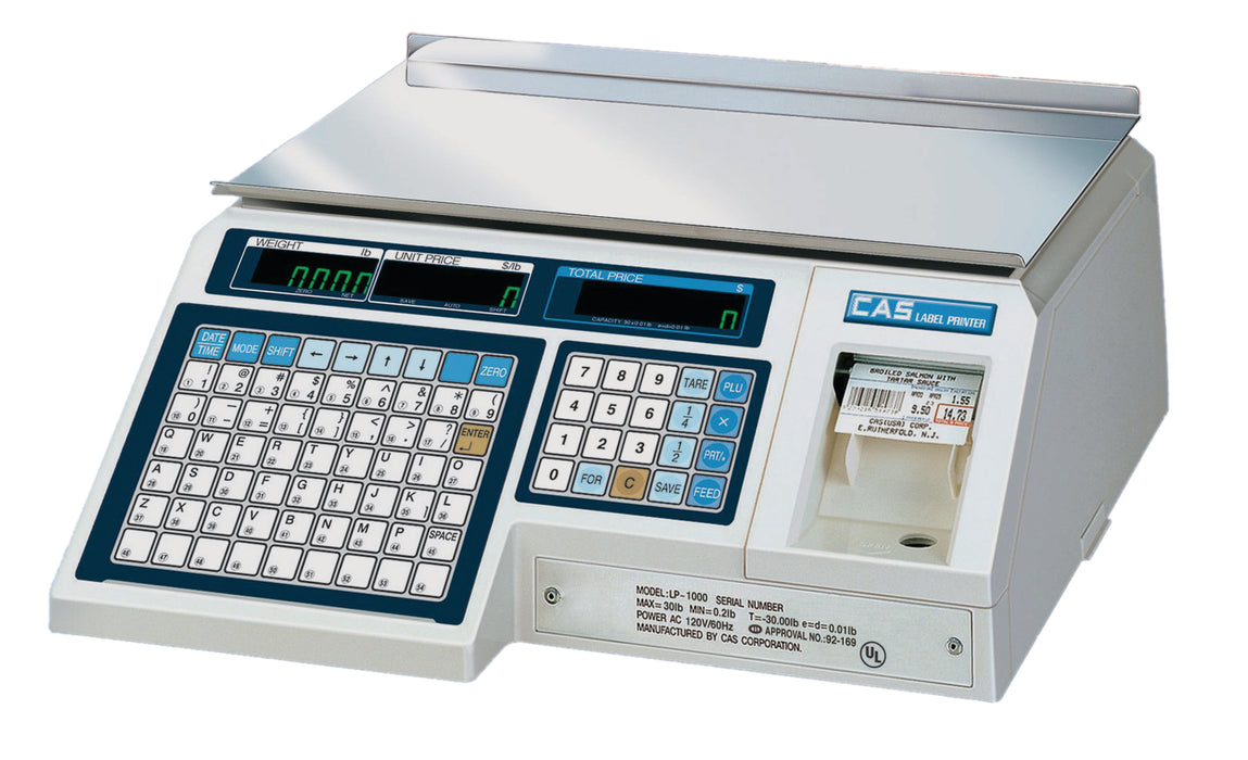 CAS LP-1000N Electronic Digital Price Computing Label Printing Scale