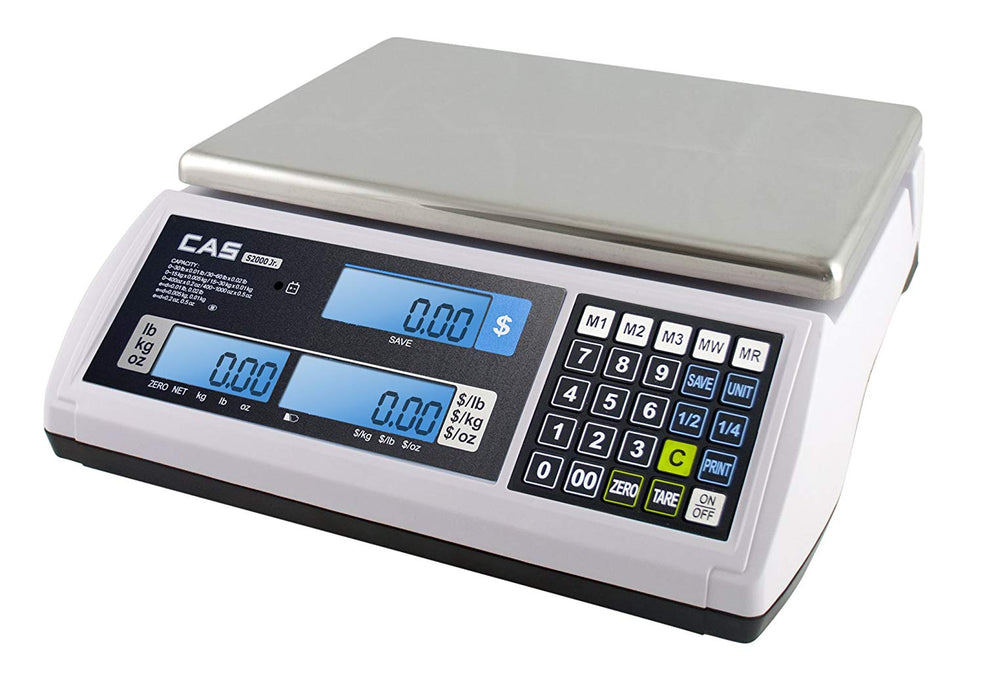 CAS S-2000 Low-Profile Price Computing - Legal for Trade Scale
