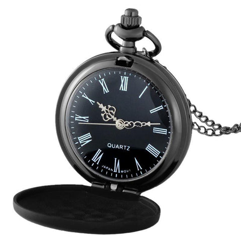 Scrub Matt Surface Vintage Pendant Hollow Exquisite Elegant Retro Gift Men Women Pocket Watch With Quartz Necklace Chain