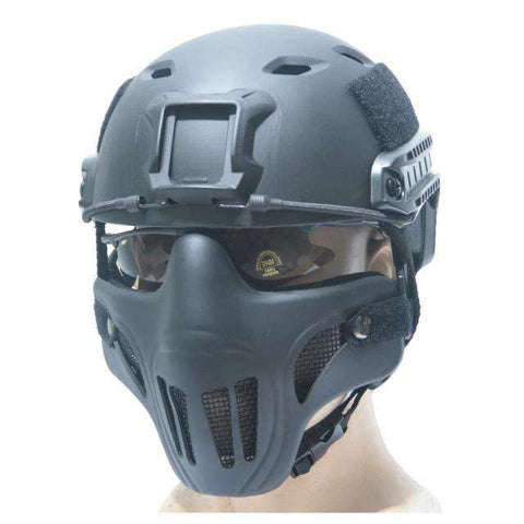 Half Face Metal Steel Net Mesh Hunting Tactical Protective Airsoft Mask