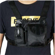 Unisex Tactical Shoulder Bag Chest Rig Bag Hip Hop Streetwear Men Functional Waist Packs Adjustable Pockets Waistcoat