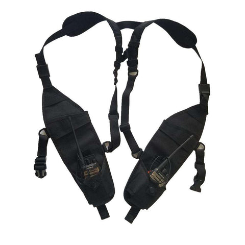 Outdoor Invisible Tactical Vest Radio On Both Sides Pack Pouch Holster Bag for Walkie Talkie Tactical Headsets & Accessorie