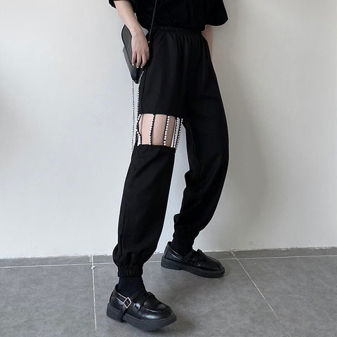 Glitter Caged Pant