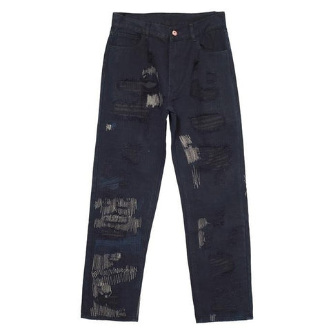 UNBROKEN RIPPED DENIM PANTS
