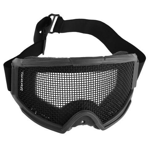 Adults Portable Airsoft Tactical Eyes Protection Metal Mesh Glasses Goggle Outdoor Sports Camping Hunting Safety Eyewear