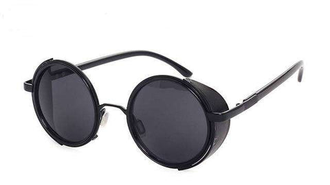 Vintage Women Steampunk Retro Coating Men Round Sunglasses Brand Designer Punk Sun Glasses UV400