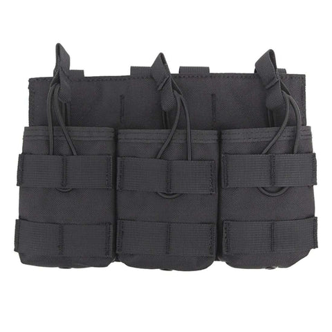 Tactical Triple Bag Magazine Pouch for 762 Magazine Paintball Accessories Bag - Black