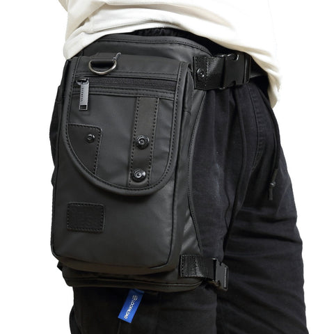 Men Oxford/Nylon/Canvas Drop Leg Bag Fanny Waist Pack Thigh Hip Bum Belt Casual Shoulder Bag Motorcycle Riding Travel Military