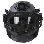 Steel Wire Protective FAST Paintball Mask Helmet Suit for Outdoor Activity Paintball Accessories - Desert Python Grain