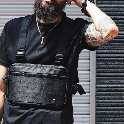 Chest Rig Vest HipHop Streetwear Functional Chest Bag for Men Shoulder Bag Adjustable Tactical Streetwear Bags Kanye Waist Packs