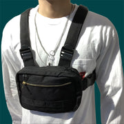 Tactical Chest Bag for Men Fashion Mini Chest Rig Tactical Vest Streetwear Shoulder Bag Waist Fanny Pack
