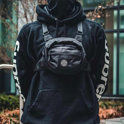 Fashion Vest Nylon Chest Rig Bag Functional Hip Hop Streetwear Tactical black Chest Rig West Waist Pack Chest Bag