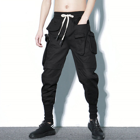 Streetwear Spring Harem Pants Men Hip Hop Black Casual Jogger Pants Men 2019 New Sweatpants Multi-pocket Cargo Trousers Men