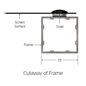 "Da-Lite Da-Snap 65x104 (123""D) 16:10 Fixed-Frame Projection Screen"