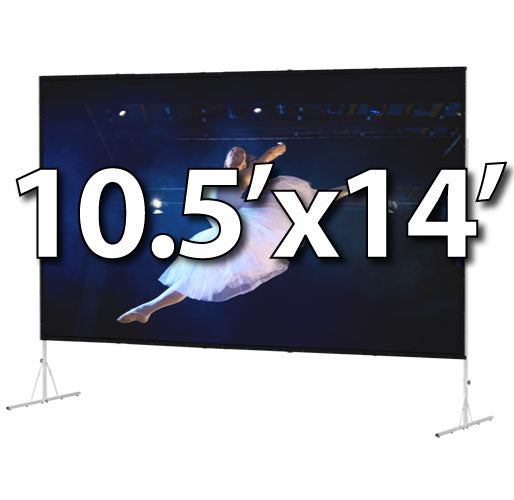 Da-Lite Fast-Fold Deluxe 10.5'x14' Screen System - Da-Tex Rear Surface - 88642