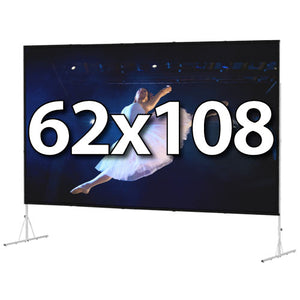 Da-Lite Fast-Fold Deluxe 62x108 Screen System - Dual Vision Surface - 88689