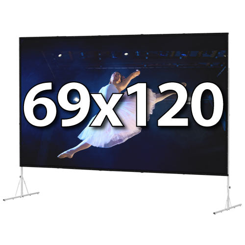 Da-Lite Fast-Fold Deluxe 69x120 Screen System - Dual Vision Surface - 88692