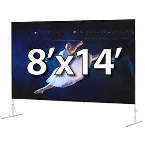 Da-Lite Fast-Fold Deluxe 8'x14' Screen System - Dual Vision Surface - 39313