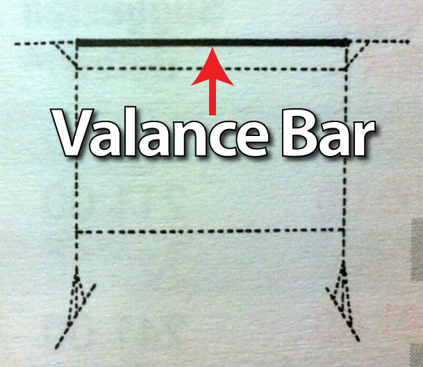 Da-Lite 39395 - Valance Bar for 8'x14' Fast-Fold Deluxe Screen System