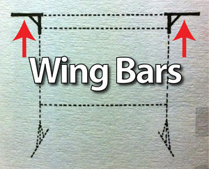 Da-Lite 89219 - Wing Bars for 9'x12' Fast-Fold Deluxe Screen System
