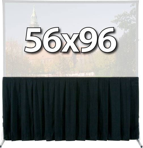 Da-Lite 36724 - Skirt Drapery for 56x96 Fast-Fold Deluxe Screen System