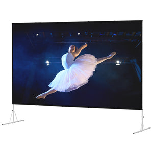 Da-Lite Fast-Fold Deluxe 56x96 Screen System - Dual Vision Surface - 88687