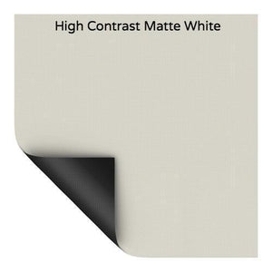 High Contrast Matte White Screen Surface