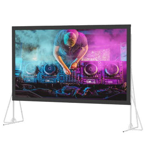 "Da-Lite 12'3""x21' Heavy-Duty Fast-Fold Deluxe Screen System"